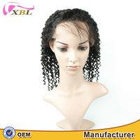 Short curly full lace wig Peruvian natural human hair wig wholesale
