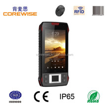 Portable data terminal with 4.3 inch touch screen and IP65 handheld pda barcode scanner
