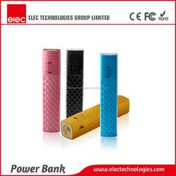 New design LED Light cellphone power pack ,Slim metal mobile power bank 2800mAh