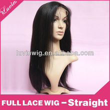 20'' 100% human hair #1b kinky straight lace front wig
