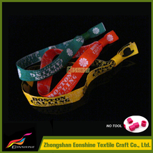Job promotional gift snap lock wristbands for Fairs and Festivals