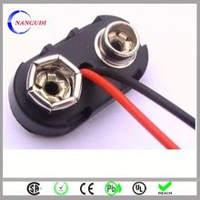 custom made t type wholesale 9v battery snap clip