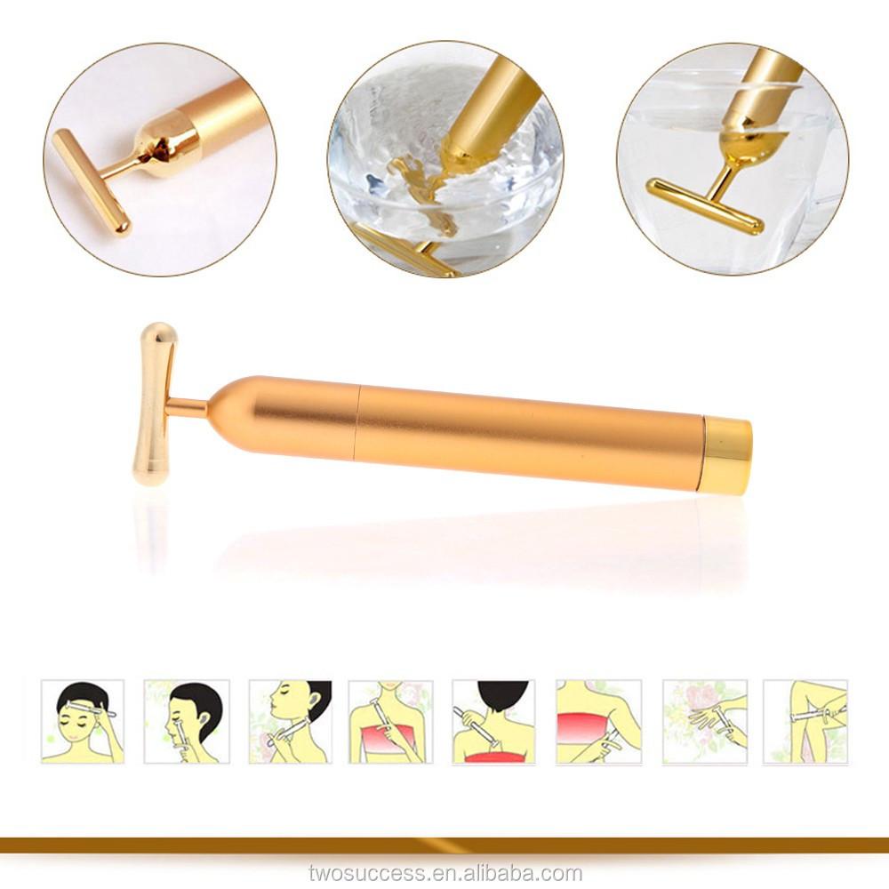 Gold Facial Roller Massage BEAUTY BAR 24K GOLDEN PULSE SKIN CARE Lift .jpg