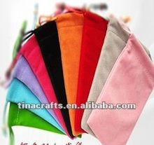 Fashion velvet bag for packing mobile phone and MP3&MP4