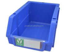 Warehouse using type plastic stackable storage bin