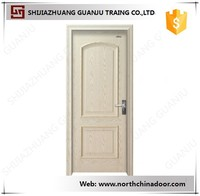 Good Quality Interior Hotel Bedroom PVC MDF Wooden Door Design