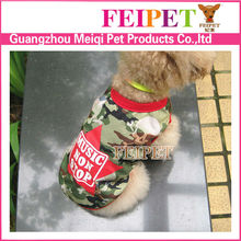 New arrival summer clothes dog 2015 camouflage clothing