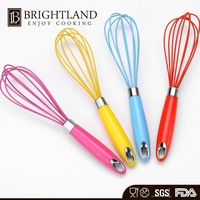 Wonder Cake Beater Multi Color Electroplate Hand Held Egg Silicone Whisk
