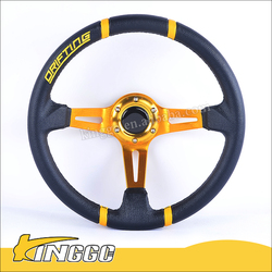 High Quality Universal PVC Deep Frame Car Steering Wheel Racing