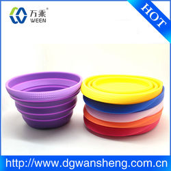 Collapsible silicone Dog Bowls/ foldable pet bowl