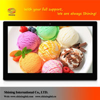 shenzhen programmable rohs 15 inch wall mount touch screen large size digital photo frame