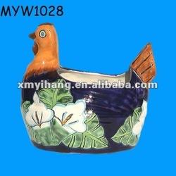 famous handmade chicken design ceramic garden buy flower pot