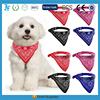 wholesale custom print logo dog bandana with dog Collar