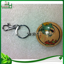 fancy genuine leather ball mobile phone key chain