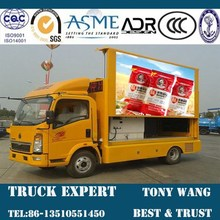 Full color P8 Class outdoor LED Advertising Truck for sale