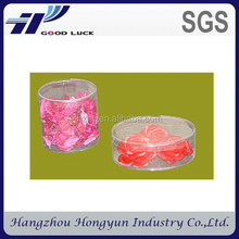 China wholesale PET PVC PP see-through cylinder plastic packaging box for birthday gift / wedding gifts / wedding favors
