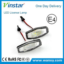 low price Vinstar led number plate light with E4 for Honda Odyssey 99-04