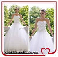 2014 High Quality Romantic Ball Gown Beaded Tulle Lace Bridal Gown Wedding Dresses China