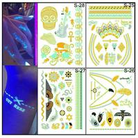 diamond tattoo stickers/laptop tattoo stickers/luminous tattoo stickers