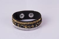 Fashion handmade jewelry cuff bracelet crystal charms wrap bracelets