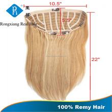 Cheap Factory Wholesale Price 100% Human Hair half wig in yaki hair