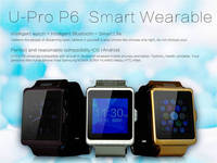 "Wholesale P6 smart watch GPRS/SIM/ID/format 1.55"" touchable screen"