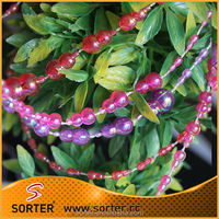 plastic beaded chain for Christmas hanging decoration
