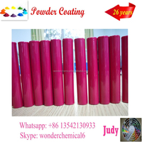 chrome pink high gloss finished powder coating in China