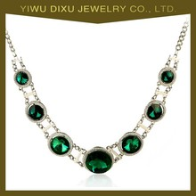 Wholesale yiwu fashion statement marble pendant necklace jewelry set crystal pendant necklace