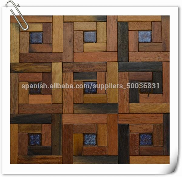 2014 madera nuevo dise o de la nave vieja pared del panel for Mosaico madera pared