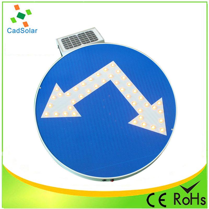 Led Solar Traffic U Turn Arrow Sign Directional Light