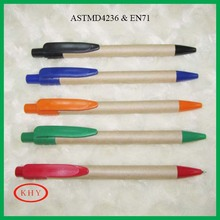 Eco-friendly recycled paper barrel ballpoint pen for promotion