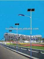 2015 nice price high quality galvanized steel mast led solar street light