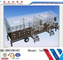 Portable Mobile Container Toilet for Bathroom and Restroom Include Shower and Toilet