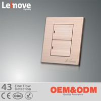 2 gang 1 way electric wall switch/LED electric switch