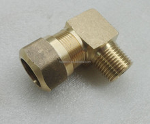 Brass nylon air brake fitting , male elbow