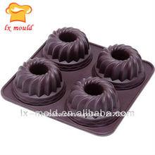De silicona pastel de frutas de moldes para hornear, de silicona de microondas seguro molde para hornear pasteles