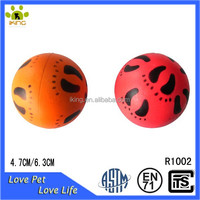 colorful footprints printed rubber foam stress ball