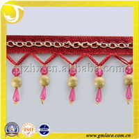 Upholstery, Soft Furnishings ,Plastic Beads Trimming Curtain Tassel Fringe Used to Cushions, Lamp and Accessories