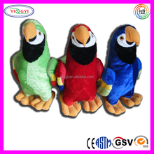 D451 Soft Animal Parrot Colorful Love Birds Stuffed Plush Bird Toys