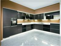 prefabricated kitchen unit/quartz stone or stainless steel top kitchen cabinet/cheap kitchen cupboard