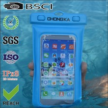 2015 blue pvc waterproof phone cover for iphone