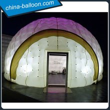 Custom made led inflatable dome tent, inflatable lawn dome tent for outdoor event