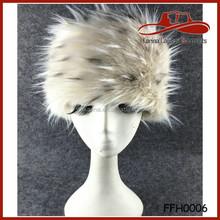 New Hot Product Faux Fur Leopord Winter Warm Soft Ski Hat Cossack Cap