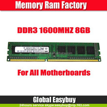 Branded export surplus 512mbx8 desktop ddr3 ram 8gb 1600mhz