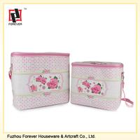 PU leather aluminium foil inssulating effect picnic bag cooler bag