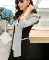 EY0213C Fashion new design spring/autumn blazer women 2015 ladies slim short coat factory wholesale price