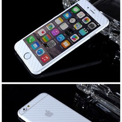 White Color Carbon Fiber Look Full Body ( Back, Side Front) Decorative Mobile Phone Stickers Skins