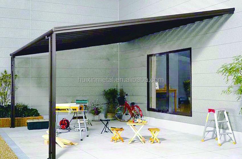 pc feuille solide cadre en aluminium stores balcon pluie auvents faire en chine l style. Black Bedroom Furniture Sets. Home Design Ideas