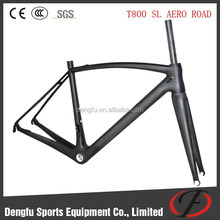 Dengfu bike SL aero design carbon road bike frame only 820g